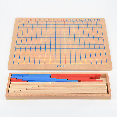 Holz Montessori Mathe Material - Addition & Subtraktion Board Family Set