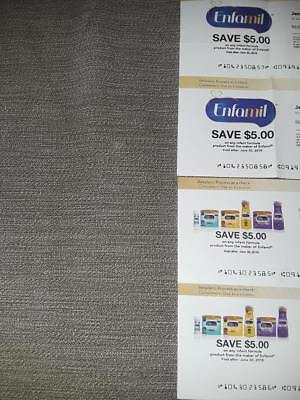 4 $5 Enfamil coupons/checks for infant formula totaling $20 use by June 30