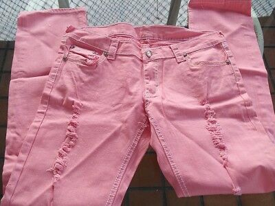 New with tags True Religion Girls Stella Jeans Pink Size 15/16