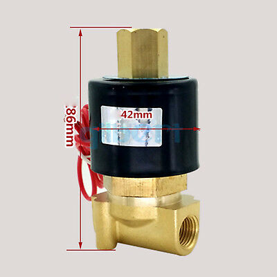 """DC12/24V AC110/220V 1/8""""BSPP Normally Open Brass Gas Oil Water Solenoid Valve"""