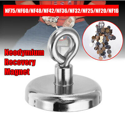 NF16mm~NF42mm 5-68kg Neodymium Recovery Magnet Metal Detector Claw Hook Magnetic