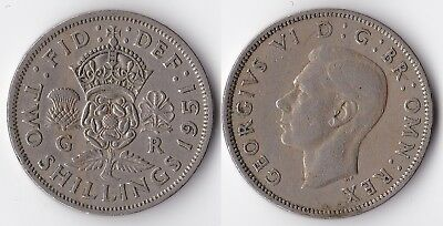 1951 Great Britain 1 florin (2 shillings) coin