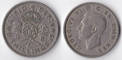 1949 Great Britain 1 florin (2 shillings) coin
