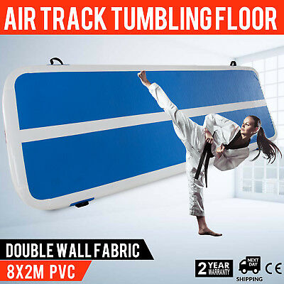 2x8 M Air Track Home Floor Gymnastics Tumbling Mat Inflatable GYM Crash Mats