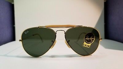 c131c16fb445 ... authentic new vintage bl ray ban outdoorsman gold frame with rayban g  15 aviator nos 5814