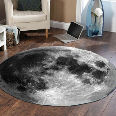 Non Slip 2ft Round Outer Space Area Rug Carpet for Living Room Bedroom Floor