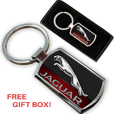 Jaguar  Keyring Key Chain Ring Fob Chrome Metal New Gift