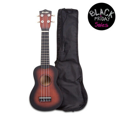 Beginners Soprano Guitar Ukulele Wood Ukulele 12 Frets Instrument With Carry Bag