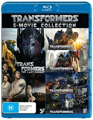 Transformers: 5-Movie Collection (The Last Knight / Age of Extinction / - NEW