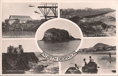 Scotland North Berwick Multi-view Postcard
