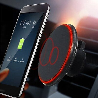 Qi Fast Wireless Car Charger Magnetic Mount Holder For Samsung S8 iPhone 8 X Lot