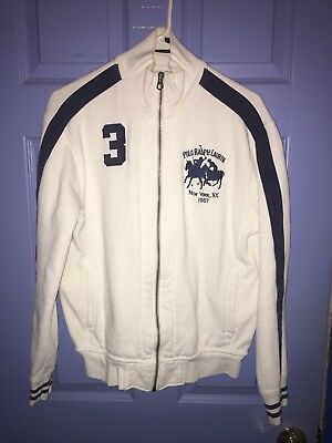 Ralph Lauren Polo New York 1967 Full Zip Heavy Cotton Track Jacket #3 Medium