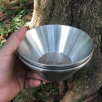 Lovoski Outdoor Stainless Steel Insulated Camping Bowl for Travel Picnic BBQ