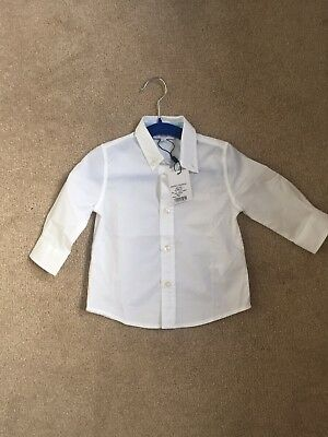 Hugo Boss WHITE Baby Boy Shirt - 12 Months