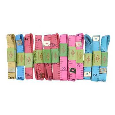 Tailor Sewing Flexible Ruler Tape Measure 60 inch 150cm 6 Colors Pack of 12 Y1Y7