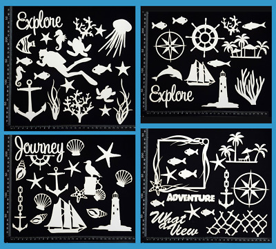White Chipboard - Beach & Nautical - Collection Six