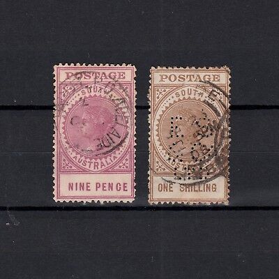 South Australia Pair Of Large Format Stamps To One Shilling