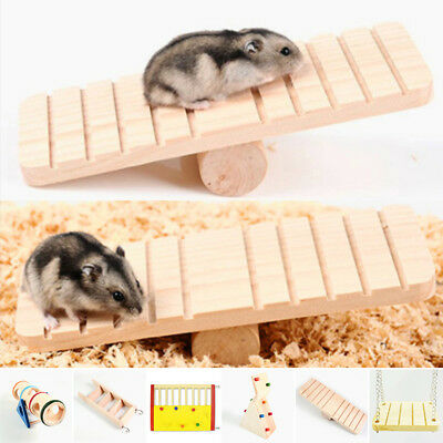 Wooden Seesaw Cage Climbing House Pet Toys For Hamster Rat Mouse Mice Practical