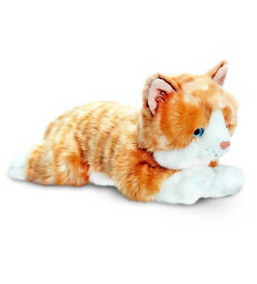 KEEL TOYS 30cm AMBER GINGER TABBY CAT SOFT TOY PLUSH KITTEN 36 MONTHS+ NEW W TAG