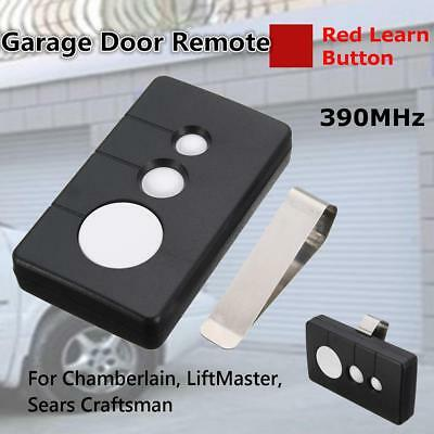 390MHz 3-Button Universal Gate Garage Door Opener Remote Key For Sears Craftsman