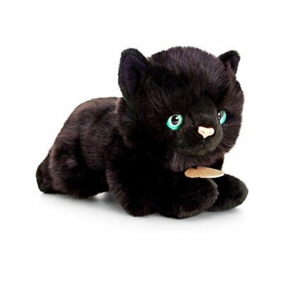 KEEL TOYS 30cm GEORGE BLACK CAT SOFT TOY PLUSH KITTEN 36 MONTHS+ NEW WITH TAG