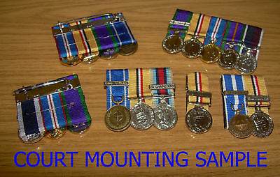 6 Medals - Miniature Medal Supplying And Court Mounting