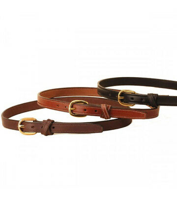 TORY English Bridle Leather Crossed Keeper Belt BLACK BROWN TAN Sizes 24-38