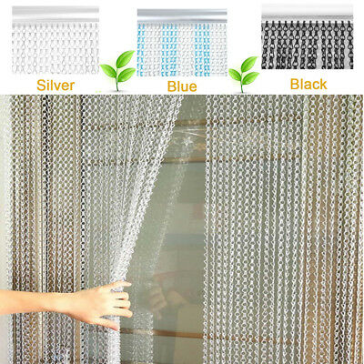 Quality Aluminium Chain Link Insect Fly Door Curtain Blinds Screen Pest Control