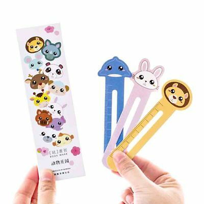 30*Cute Cat Head Paper Bookmark Stationery Bookmarks Book Holder for Kids Gift