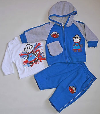 New Baby boy Monkey three pieces sets size 0000,000,00,0,1