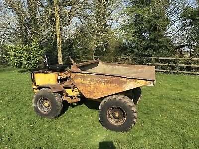 Thwaites 3 Ton 4X4 Dumper Starts Runs & Works Great Spares Or Repairs Needs Tlc