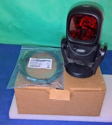 Boxed Black Symbol Motorola LS9208 USB Barcode Scanner + Stand + Cable