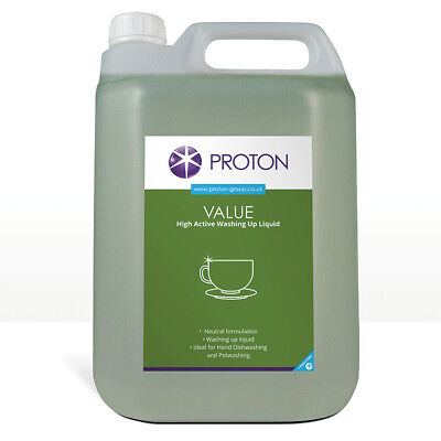 4 x 5L Proton Washing Up Liquid Commercial Industrial Catering Takeaway Kitchen
