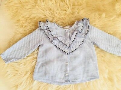 Baby Girl Top Blouse Zara Summer Spring 12-18 Months