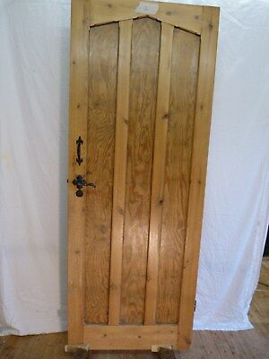 Pine Vintage 5 Internal Doors with black door furniture