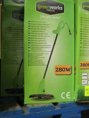 Greenworks 280w Electric Line Trimmer 280w Lightweight Grass Strimmer