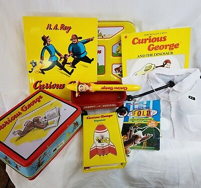 Curious George collection toys books wagon lunch box
