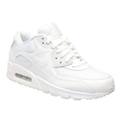 Men's Nike Air Max 90 Triple All White Trainers 6 7 8 9 10 UK Sizes NEW & BOXED