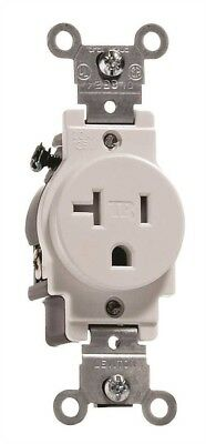 Leviton 606748 2-Pole Commercial Grade Tamper-Resistant Single Receptacle