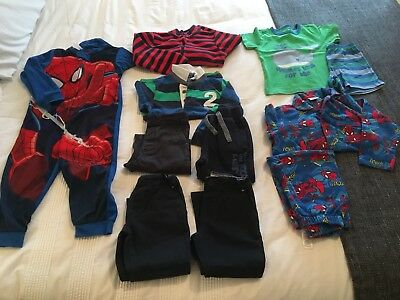 Boys Clothes, Age 2 - 3, Mixed Bag of 10 Items , Marvel, Thomas, Mothercare ++