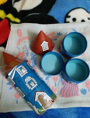 Moomin Characters Moomin House 3 stack Paper Container one set