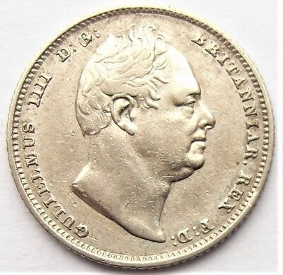 William IV Sixpence 1834