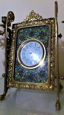 Antique French Gilt Brass Mantel / Table Clock.