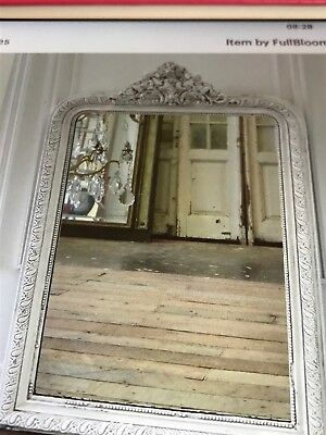 antique french grey   louis Philippe mirror