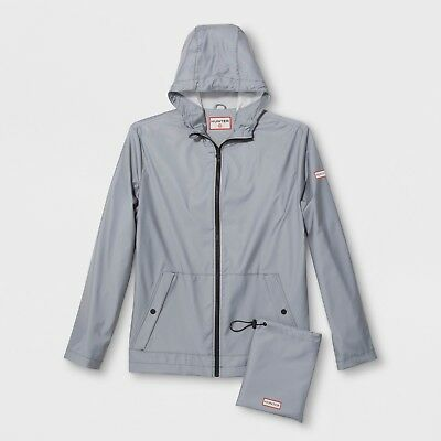 Hunter for Target Adult Unisex Packable Rain Coat - Silver L SOLD OUT NWT