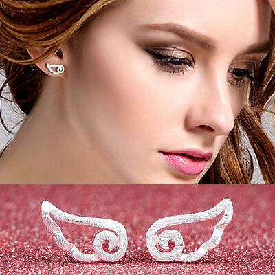 ANGEL WINGS 925 STERLING SILVER PLT EAR  BUTTERFLY STUD EARRINGS Cute Simple