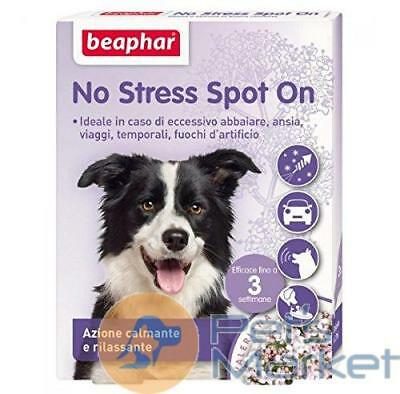 Beaphar No Stress Spot On 3 Pipette Antistress Per Cane Trasporto Viaggio Disagi