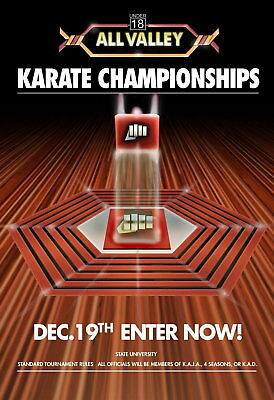 72192 Karate Kid Tournament All Valley From 1984 Movie Wall Print Poster Plakat