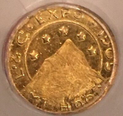 1905 Oregon G25c Lewis and Clark Exposition Gold Token.  NGC MS64.