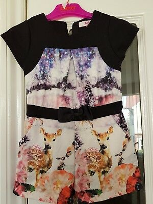 Ted Baker girls playsuit/all in one,deer and rabbit,age 2-3 years